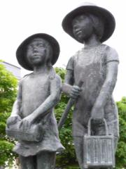 彫刻「夏の日」