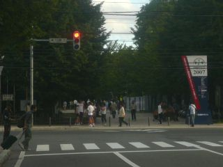 中島公園入口 北海道マラソン・残り600m