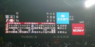 6/14・日本ハム-ヤクルト戦スコアボード