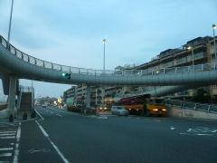 湘南国際マラソン折返し地点・西浜歩道橋