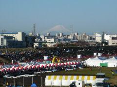 荒川市民マラソン会場・富士山遠景