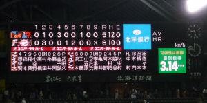 5/20・日ハム-巨人戦スコアボード