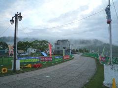 洞爺湖マラソンゴール地点