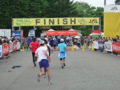 千歳JAL国際マラソン/ゴール地点