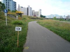 豊平川市民マラソン・10km地点