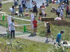 豊平川市民マラソン・ゴール地点風景