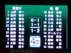 東京V-札幌スコアボード