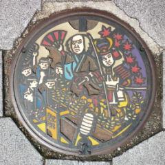 カラーデザインマンホール・角館町(仙北市)
