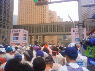 東京マラソン2010スタート直前写真