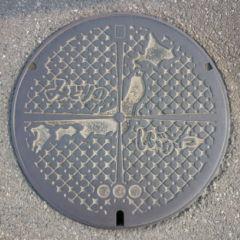 デザインマンホール・群馬県渋川市