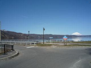 洞爺湖マラソンスタート地点写真