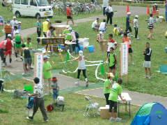 札幌・豊平川市民マラソンゴール地点写真