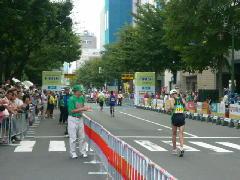 北海道マラソンゴール地点