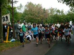 恵庭マラソン3kmスタート風景