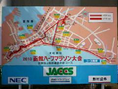 函館ハーフマラソンコース図