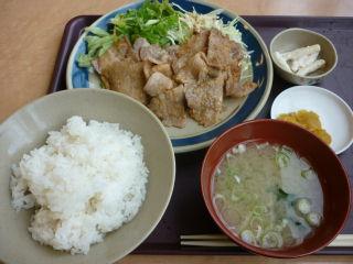北のたまゆら・生姜焼き定食